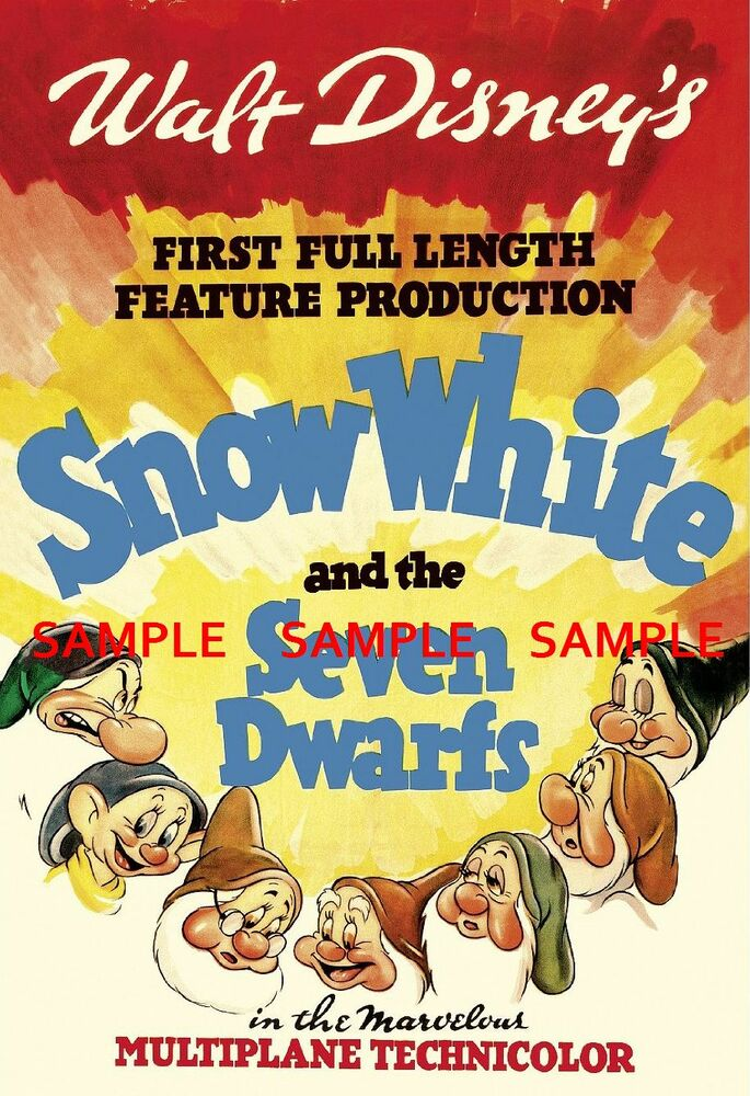 "Snow White & the Seven Dwarfs 11"" x 17"") Movie Collector's ..."