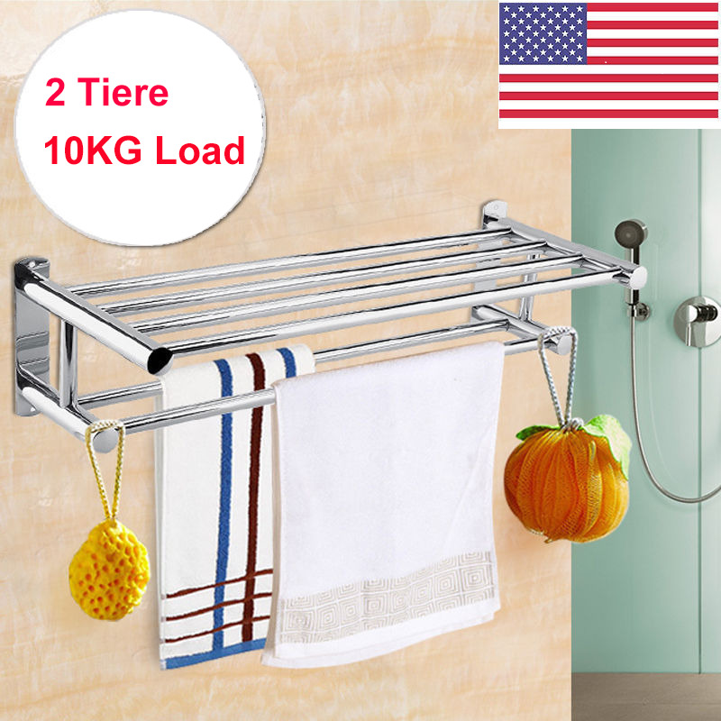 bathroom cabinet with towel rail new wall mounted bathroom towel rail holder storage home 21988