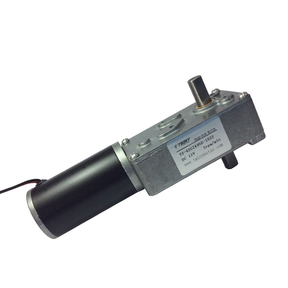High torque dc 12v 3rpm electric worm geared motor with for High torque ac motor