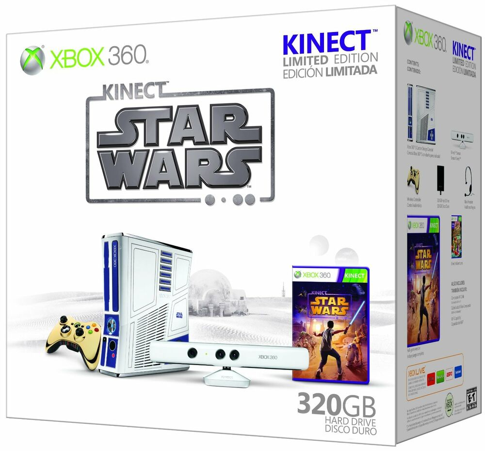 Xbox 360 game console limited edition kinect star wars bundle free shipping 885370332889 ebay - Xbox 360 console kinect bundle ...