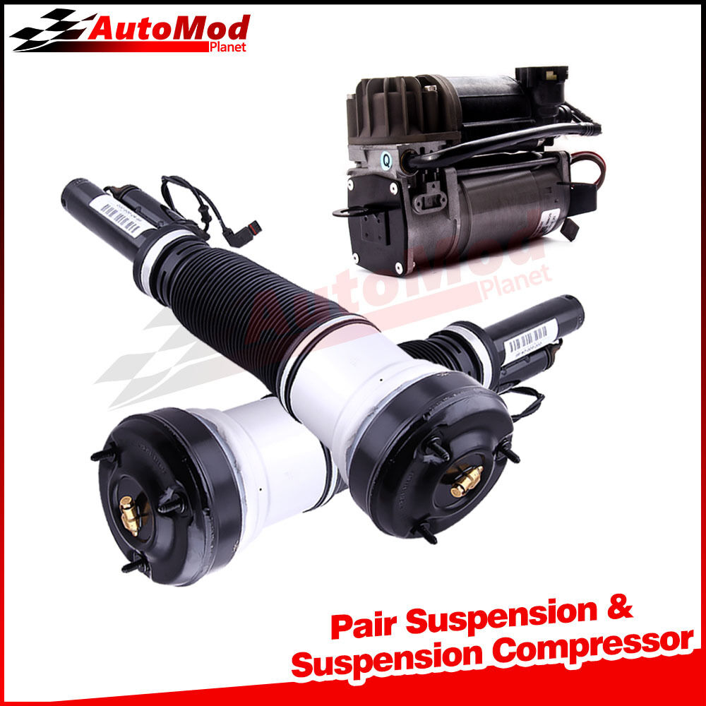 Pair front air suspension compressor kit for mercedes s for Mercedes benz spring compressor