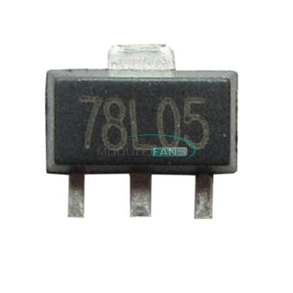20pcs 78l05 L78l05 7805 Voltage Regulator 5v 100ma Sot 89