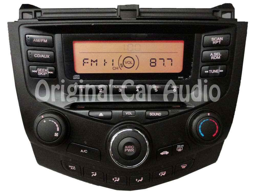 03 07 honda accord radio stereo cd player manual climate. Black Bedroom Furniture Sets. Home Design Ideas