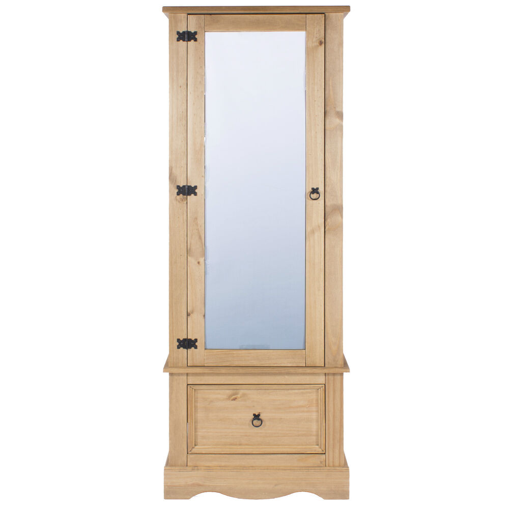 Premium Corona Solid Pine Bedroom Range Single Mirrored