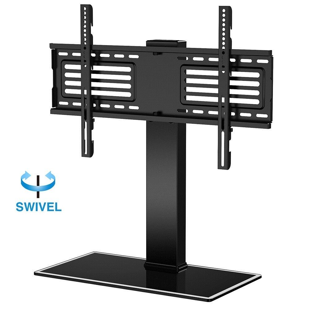 universal tv stand with swivel mount pedestal base wall mount for 32 60 lcd led ebay. Black Bedroom Furniture Sets. Home Design Ideas