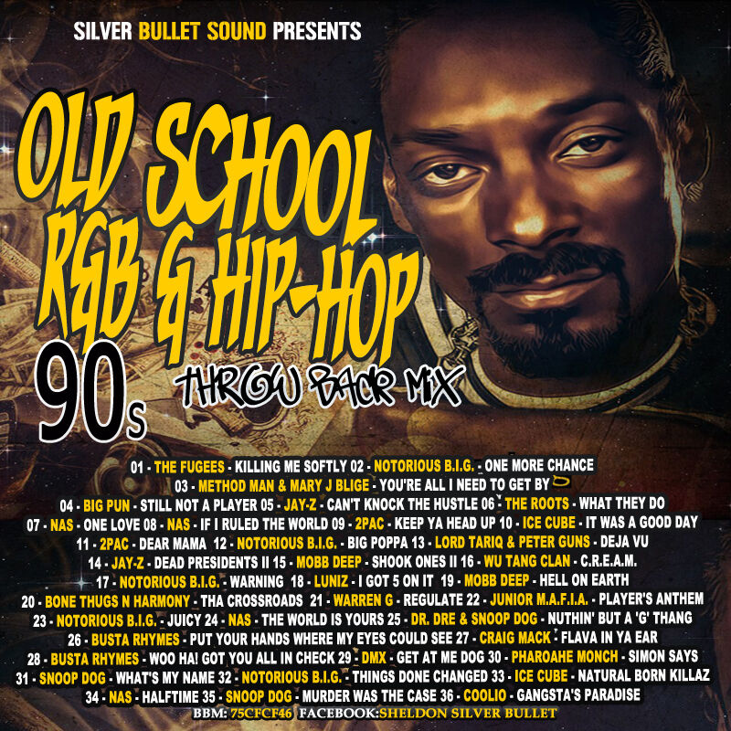25 Hip Hop Song: OLD SCHOOL R&B & HIP-HOP 90'S THROWBACK MIX CD