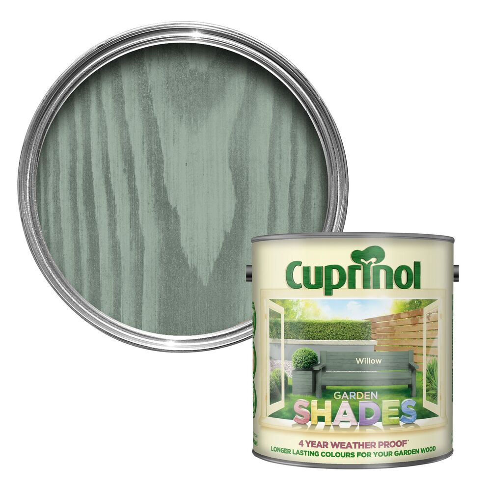 CUPRINOL GARDEN SHADES 1 2 5 5 LITRE Multiple Colours 125 ML Tins