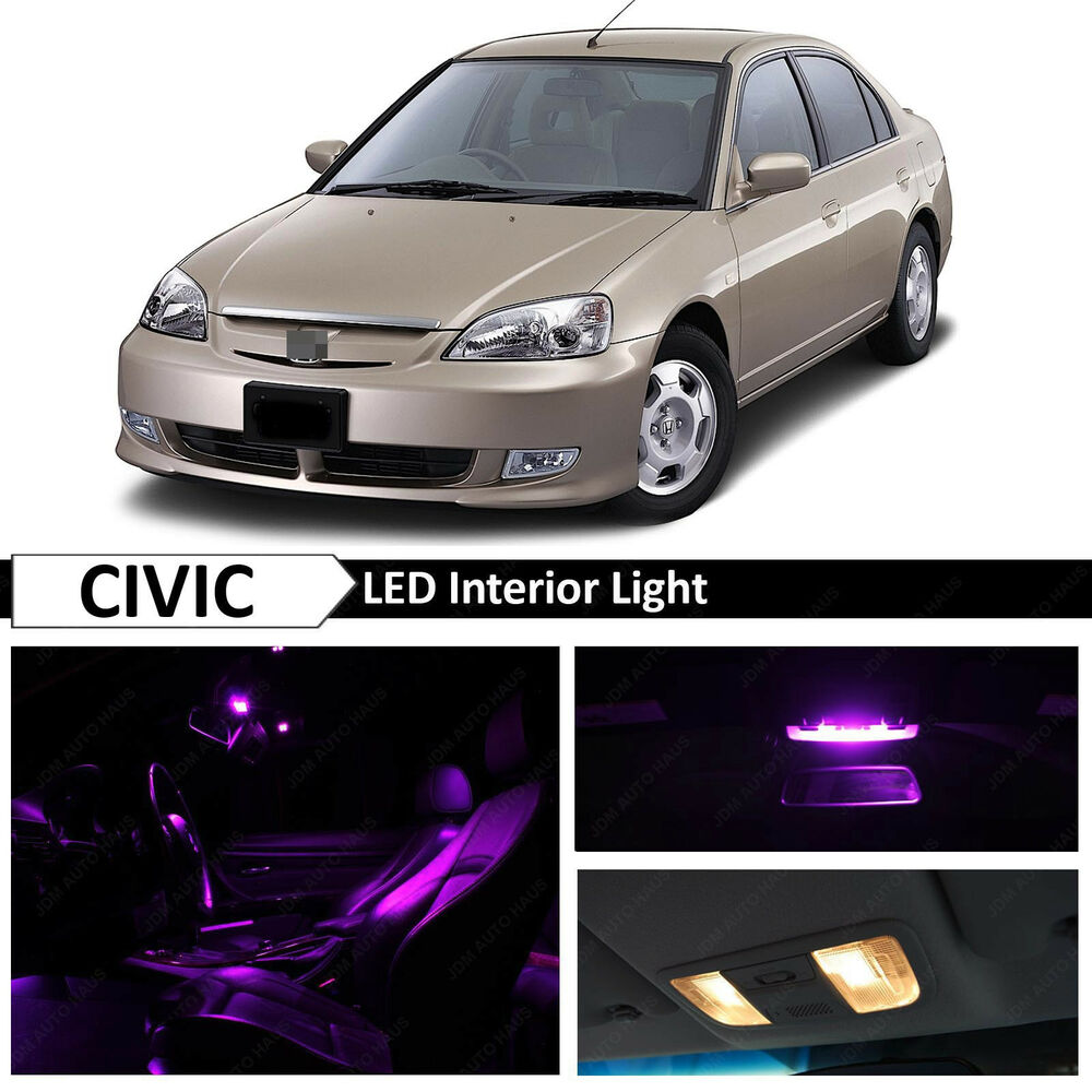 Purple interior led light package kit 2001 2005 honda - 2015 honda civic si interior lights ...
