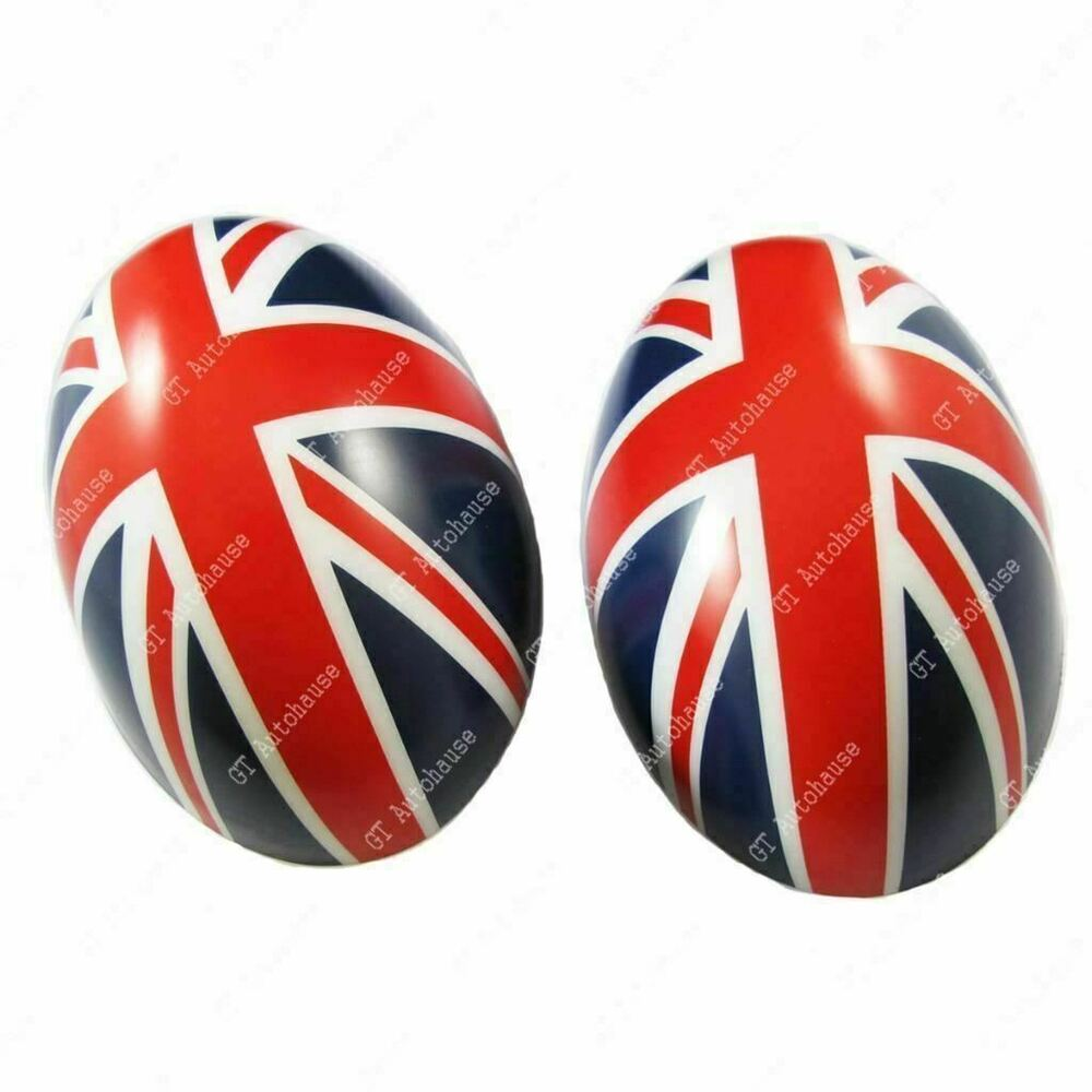 2 pcs red union jack side mirror covers caps for mini. Black Bedroom Furniture Sets. Home Design Ideas