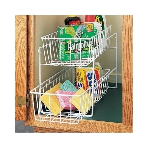 Kitchen sliding drawers under cabinet pull out storage - Bathroom cabinet organizers pull out ...