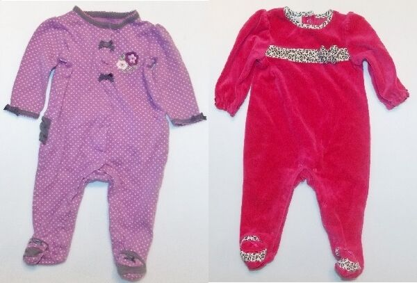 eda161d83f08 Small Wonder Infant Girls Footed Sleepers 2 Choices Size 3-6 Months ...