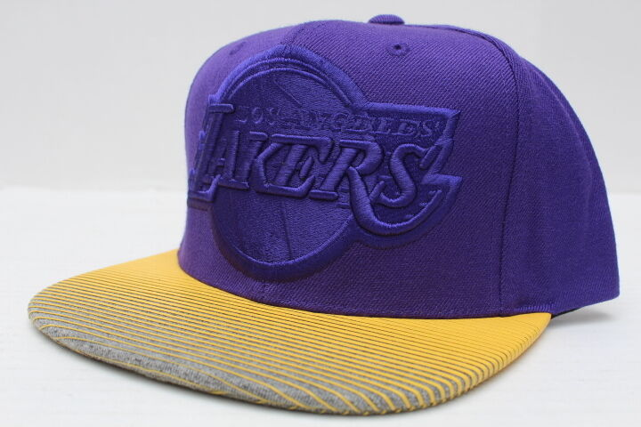 Details about NBA Los Angeles Lakers Mitchell   Ness City Undervisor Snapback  Hat e7440b9a539