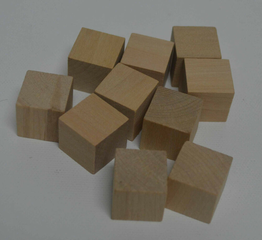 3 4 solid wood block set of 10 blocks unfinished wood for Unfinished wood pieces for crafts