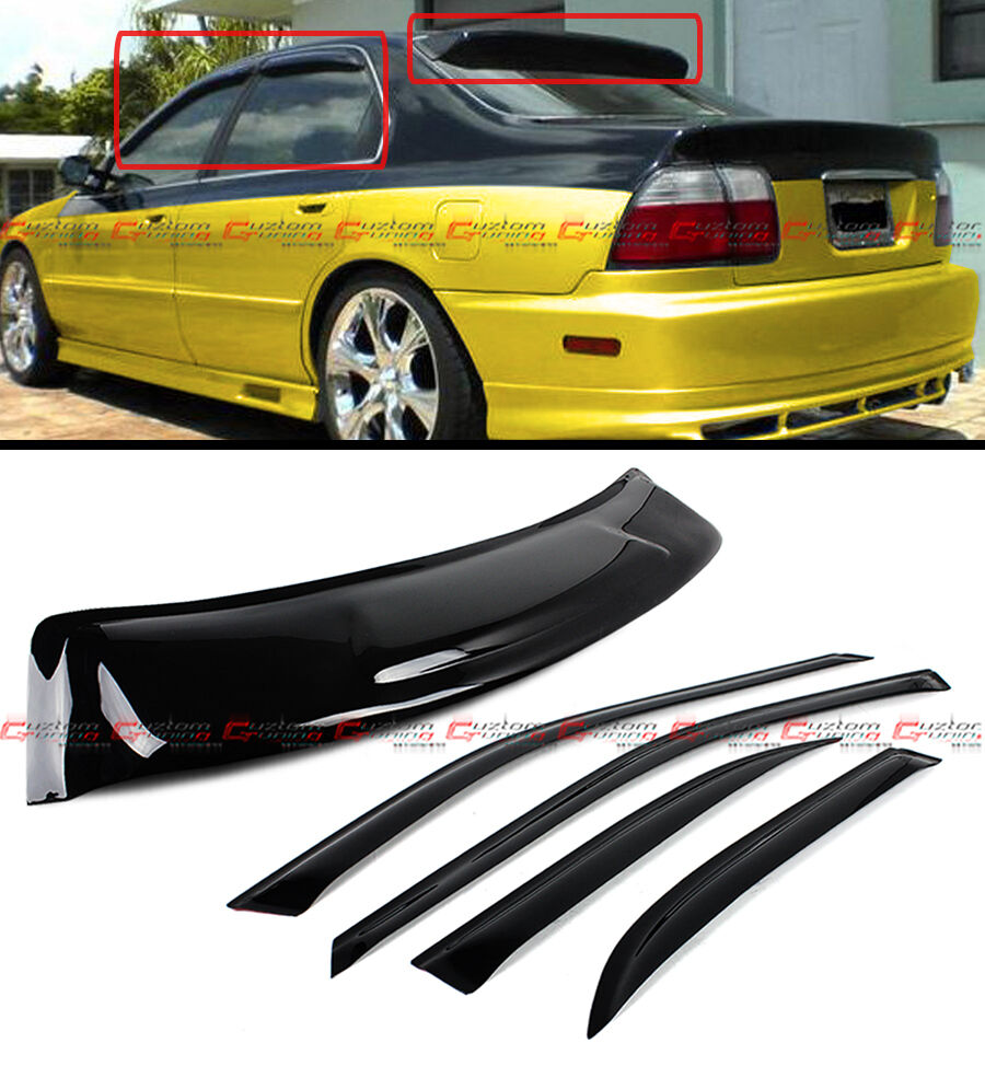 94 97 honda accord 4dr sedan jdm smoke rear roof window. Black Bedroom Furniture Sets. Home Design Ideas