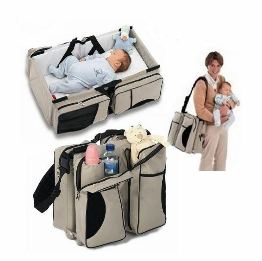 Baby Crib Portable Folding Toddler Bed Changer Diaper Convertible Bag Mattress Ebay