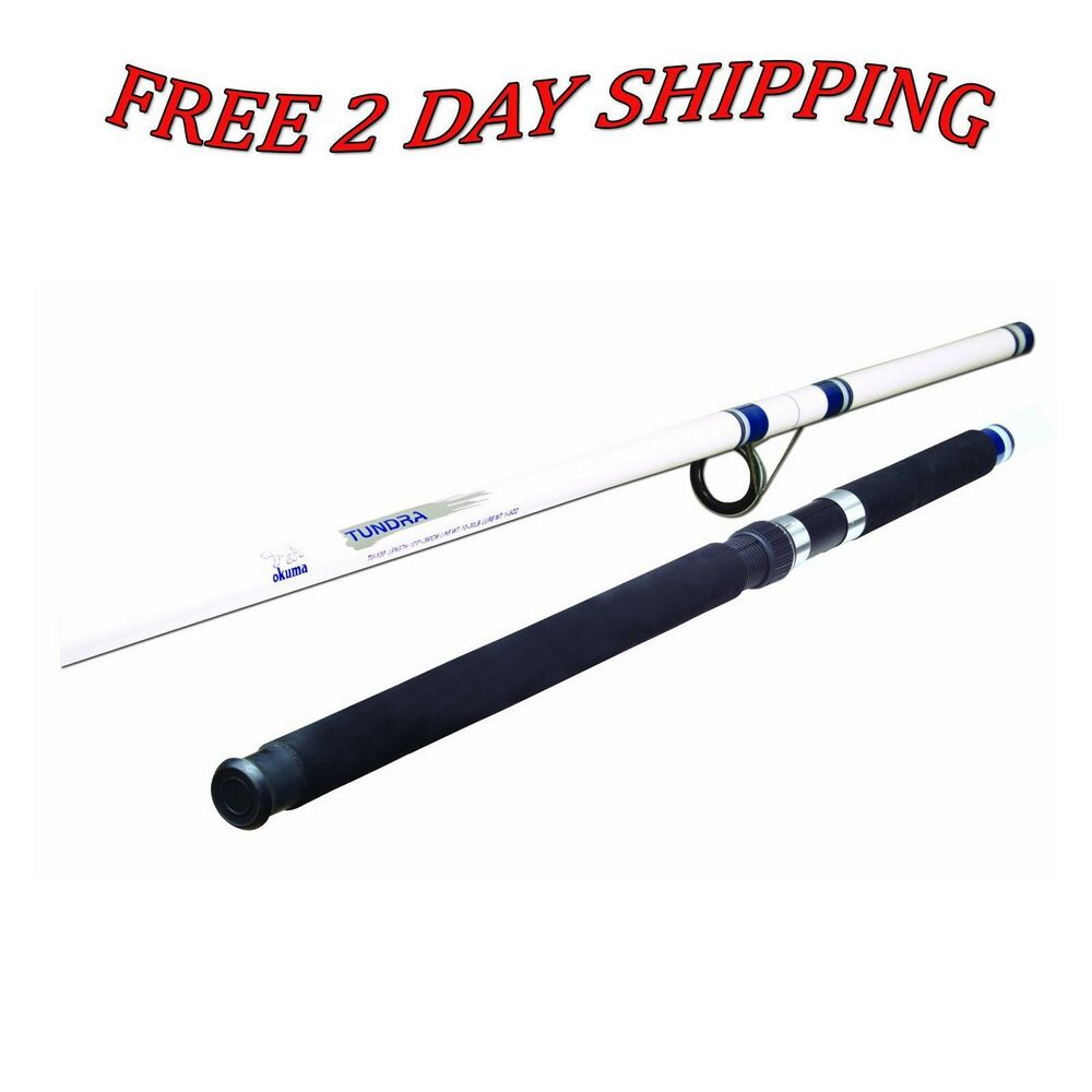 New fishing rod pole okuma tundra tu120 surf glass 12ft for White fishing rod