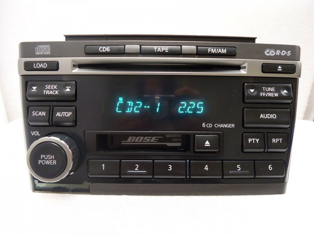 01 02 03 nissan maxima bose radio tape 6 disc changer cd. Black Bedroom Furniture Sets. Home Design Ideas