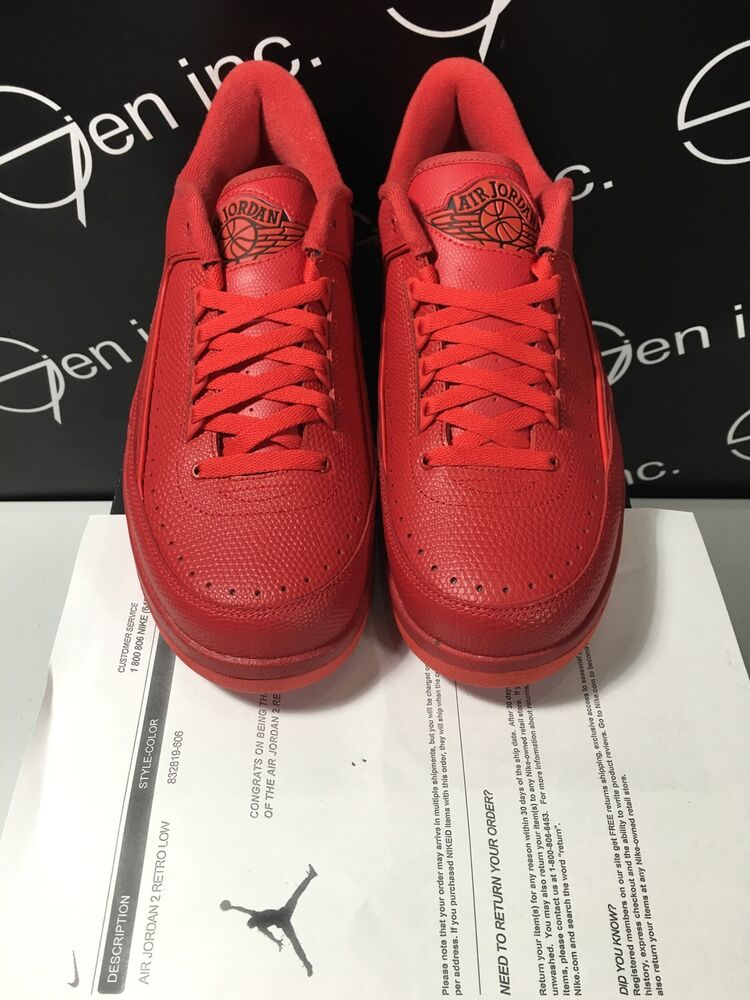 info for 9bc6b a0aec Authentic Nike Air Jordan 2 Retro Low Gym Red Varsity Red Size 11   eBay