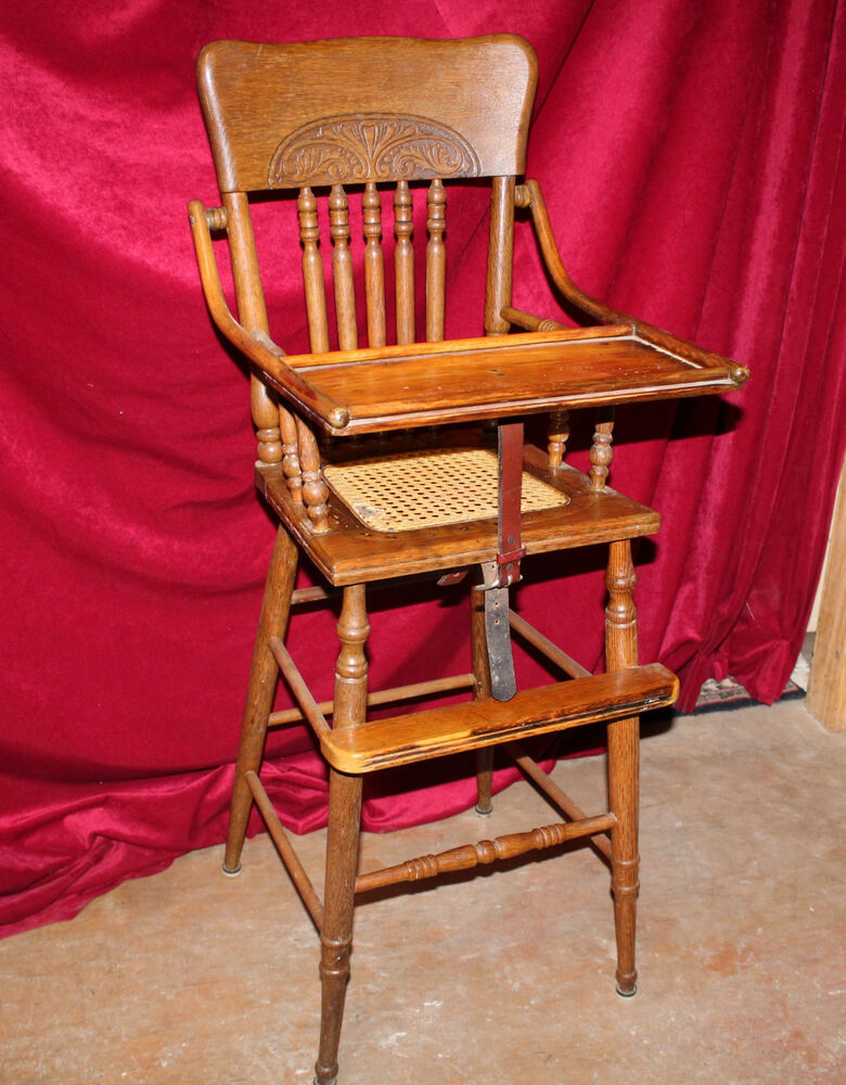 Antique Eastlake Oak High Chair Ebay