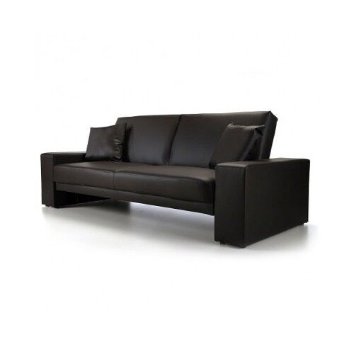 Leather Sofa Bed 2 Seater Black Faux Leather Living Room Student Dorm Guest Room Ebay
