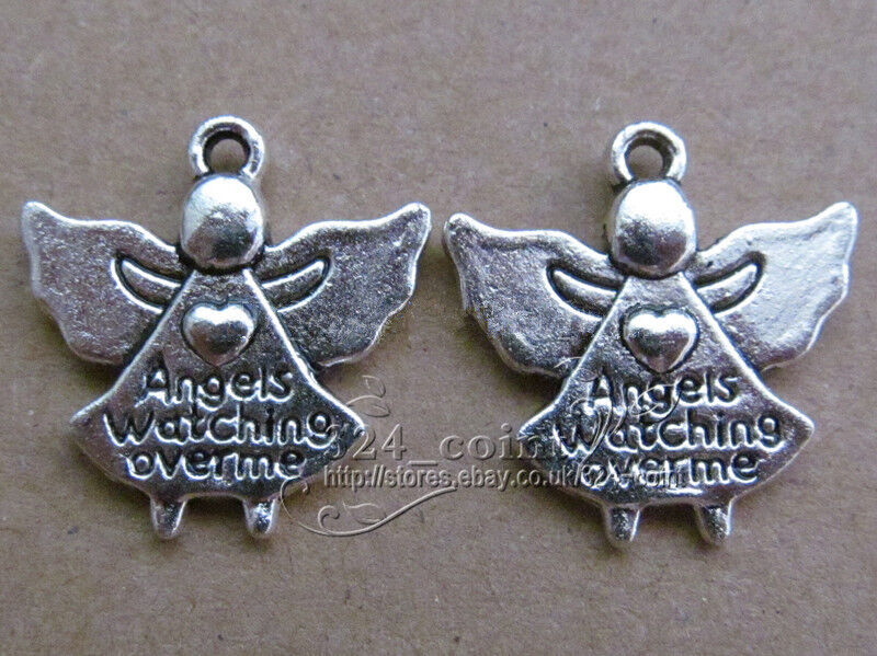 p126 50pcs tibetan silver charms 2 sided accessories