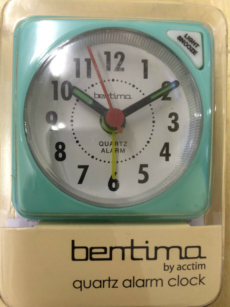 bentima mint ingot mini alarm clock pocket size battery operated by acctim ebay. Black Bedroom Furniture Sets. Home Design Ideas