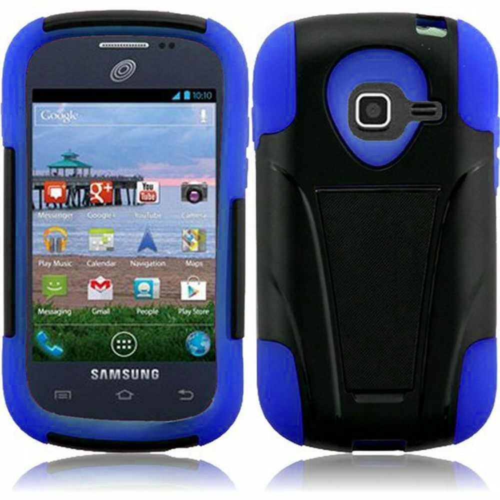 For Samsung Galaxy Centura S738C S730G Dis T-Stand Hybrid Cover Case ...