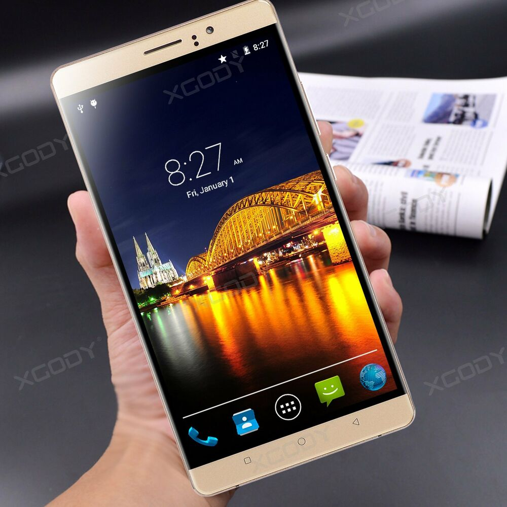 xgody 3g 2g 6 zoll quad core handy android 5 1 smartphone dual sim ohne vertrag ebay. Black Bedroom Furniture Sets. Home Design Ideas