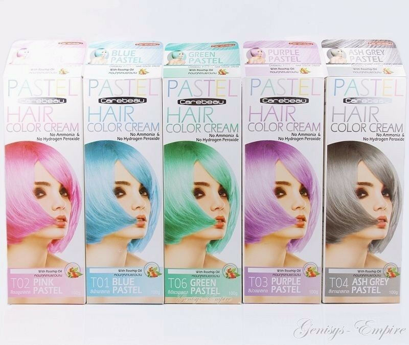 CAREBEAU PASTEL HAIR COLOR CREAM ROSEHIP OIL NO AMMONIA ...