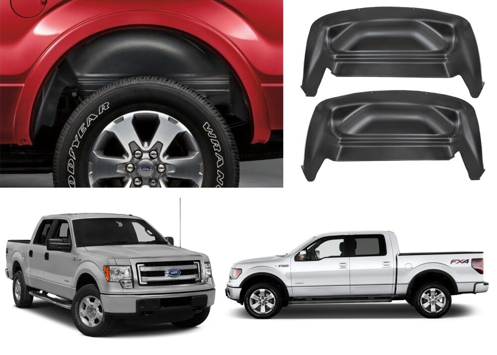 Ford 4x4 Rear : Ford f black rear wheel well liners lariat