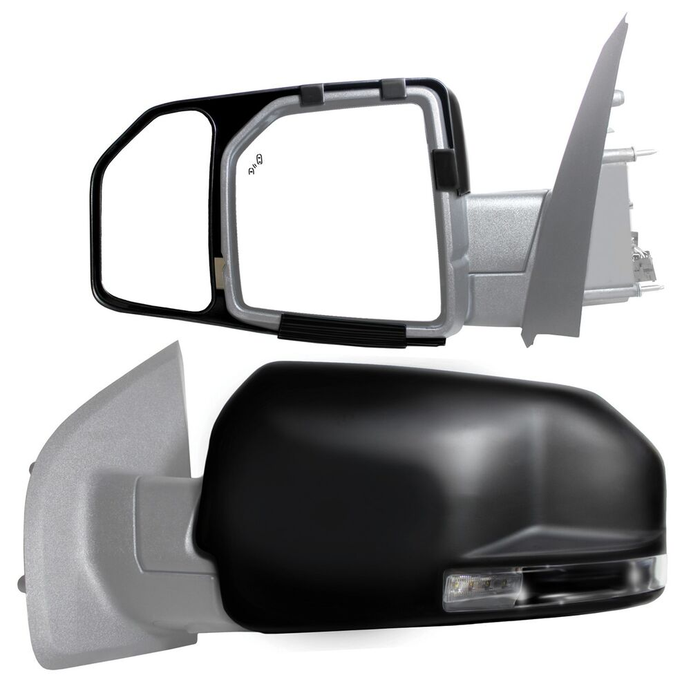 2015 2016 2017 ford f150 clip snap on zap towing side mirror extension pair ebay. Black Bedroom Furniture Sets. Home Design Ideas