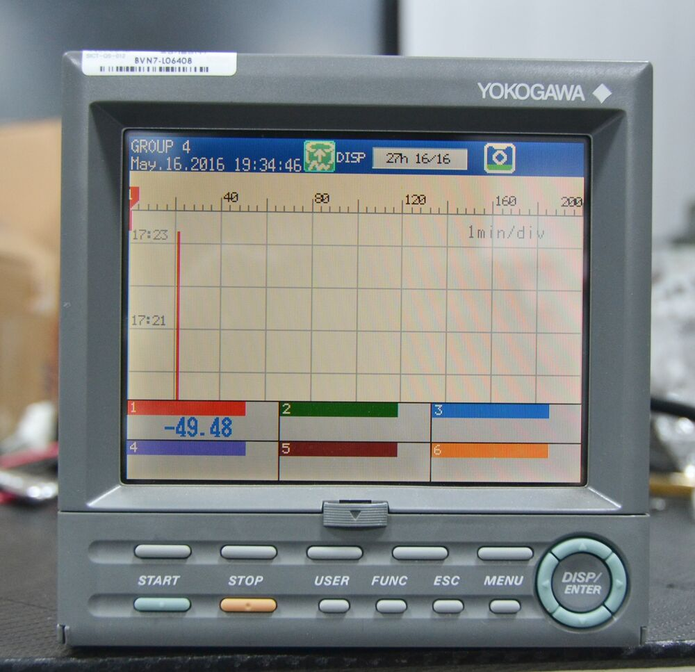 4 20ma Digital Chart Recorder : Yokogawa fx paperless videographic recorder ebay