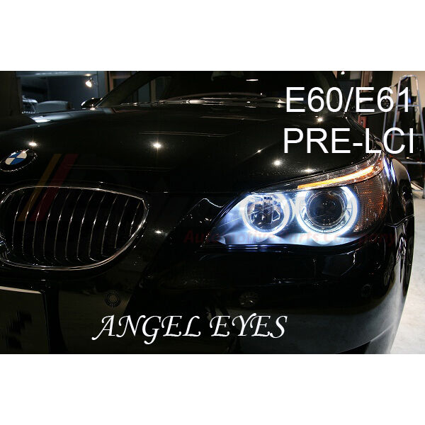 bmw 5 series e60 e61 pre lci angel eye halo ring light. Black Bedroom Furniture Sets. Home Design Ideas