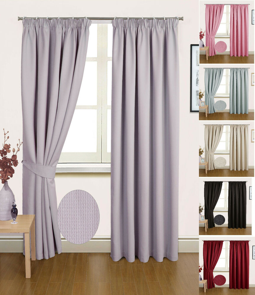 madrid pair of semi blackout ready made thermal curtains. Black Bedroom Furniture Sets. Home Design Ideas
