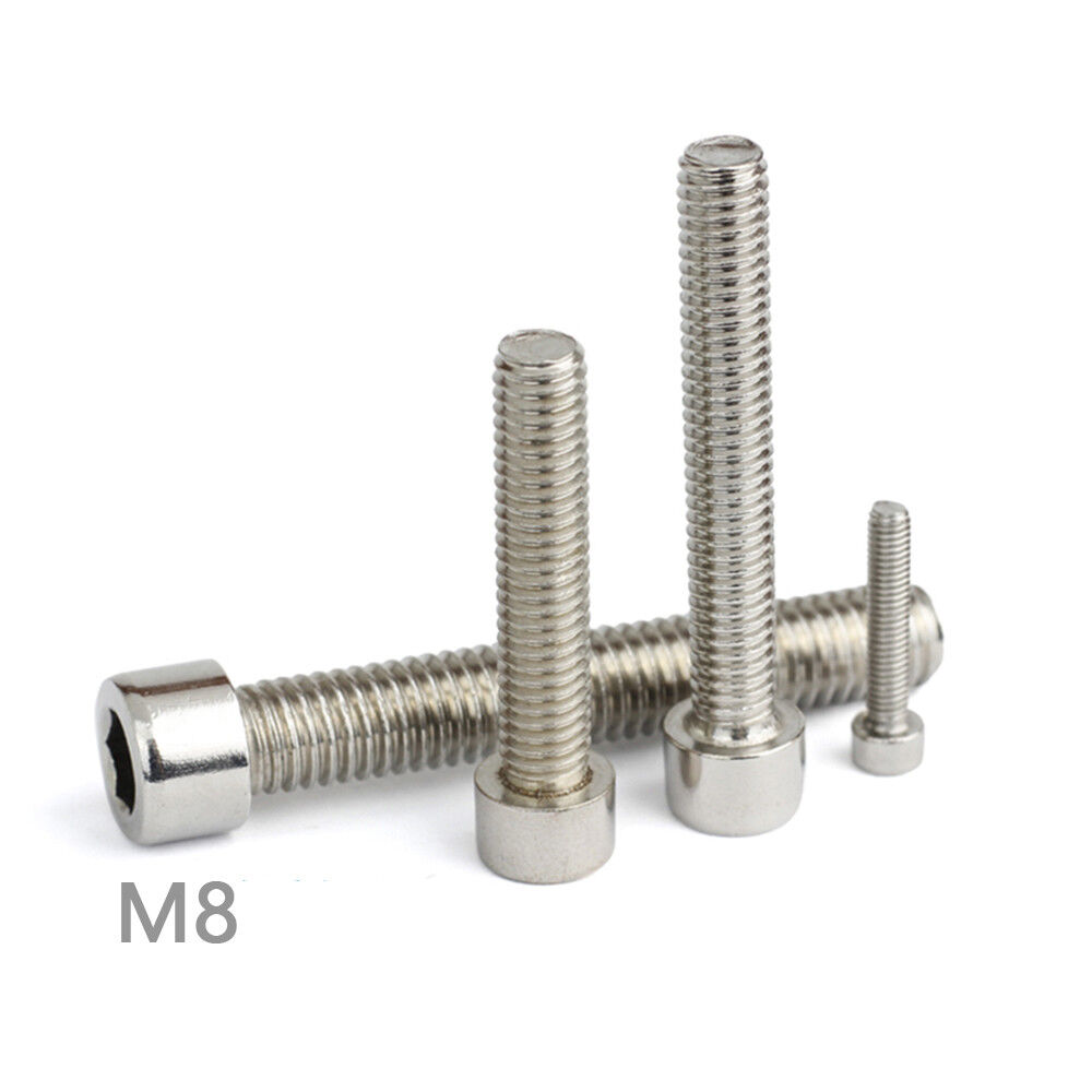 M8 Stainless Steel Metric Full Thread Allen Hex Socket Cap ...