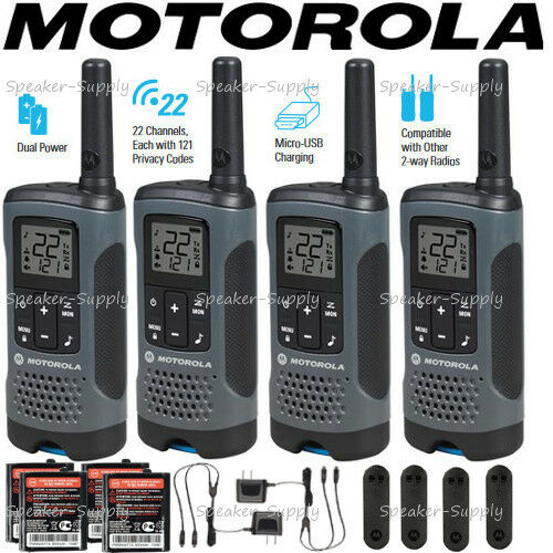 Mile High Water Talk: Motorola Talkabout T200 Walkie Talkie 4 Pack Set 20 Mile