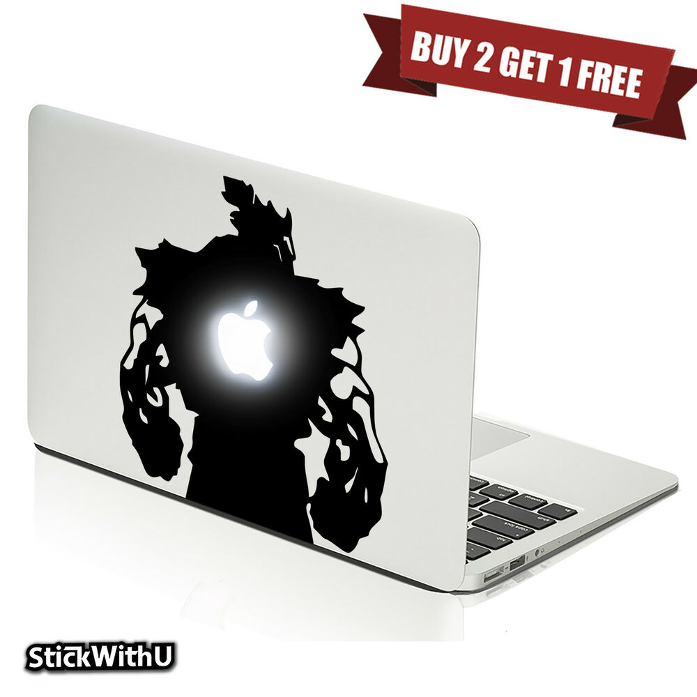 Details about macbook air pro vinyl skin sticker decal street fighter game akuma back m804