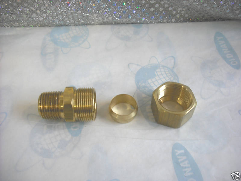 Brass Compression Tube Fitting 3 4 Od X 1 2 Mpt Ebay