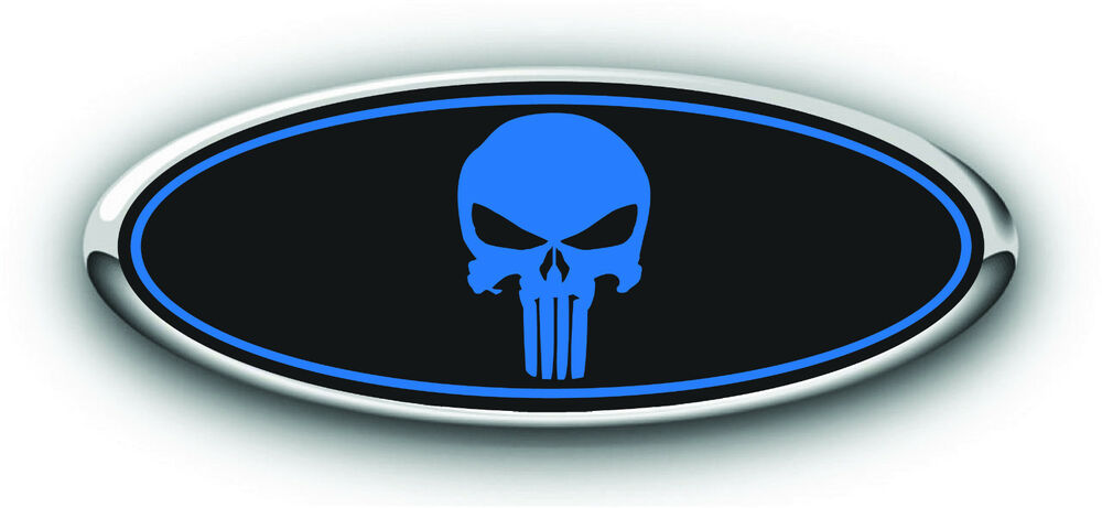 Custom Ford F150 Parts >> Ford 2015 Taurus Overlay Emblem Decal Punisher Black/Blue 3PC Kit! | eBay