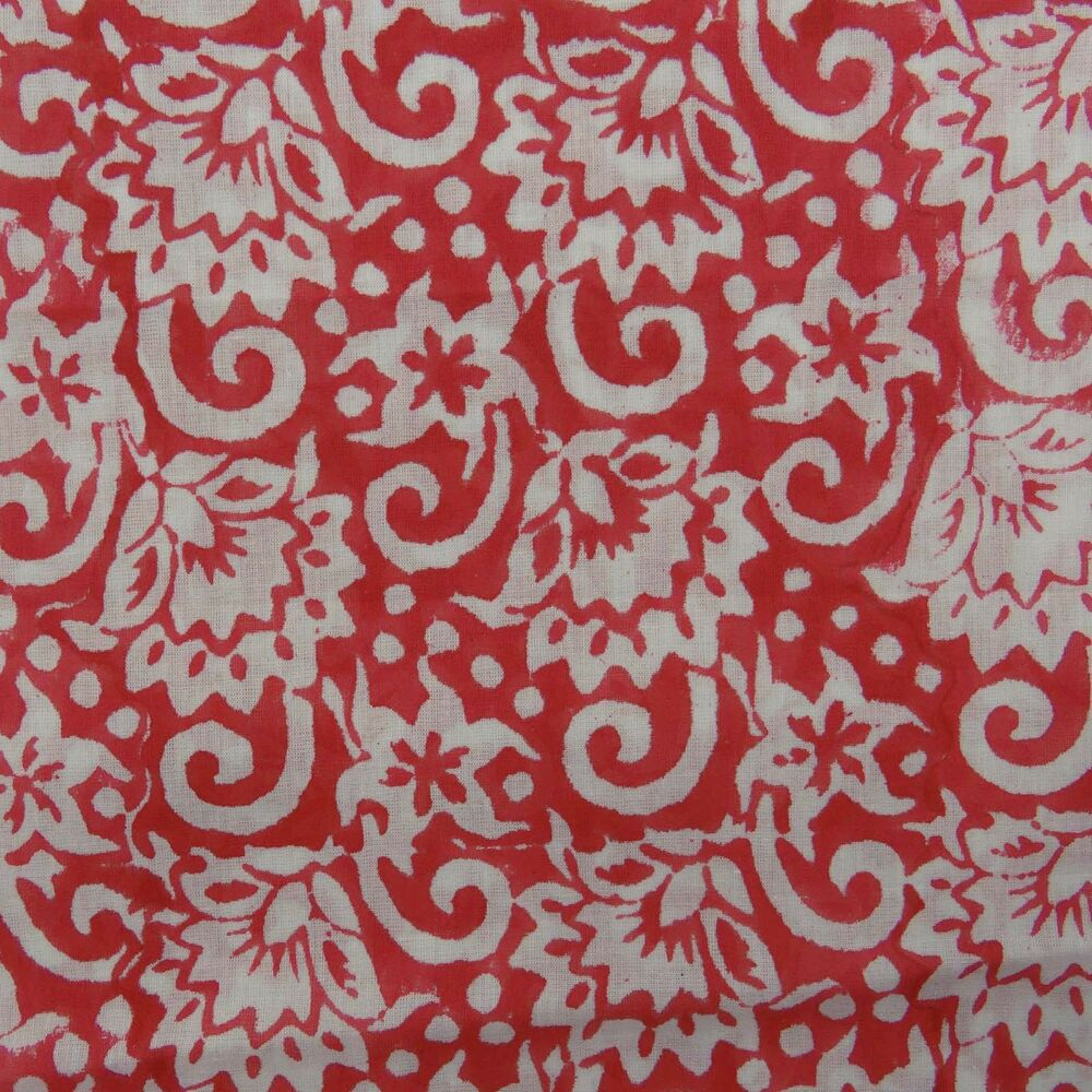 Cotton voile fabric hand block print dressmaking indian for Dressmaking fabric