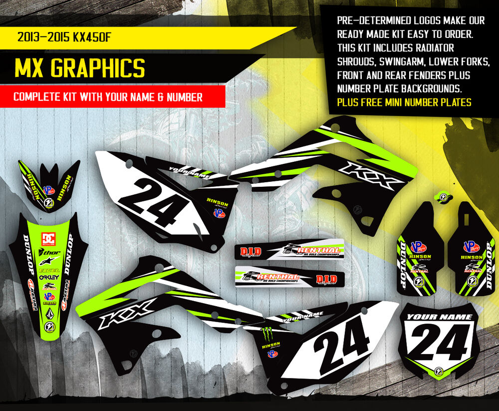 2013 2014 2015 Kxf 450 Graphics Kit Kawasaki Kx450f