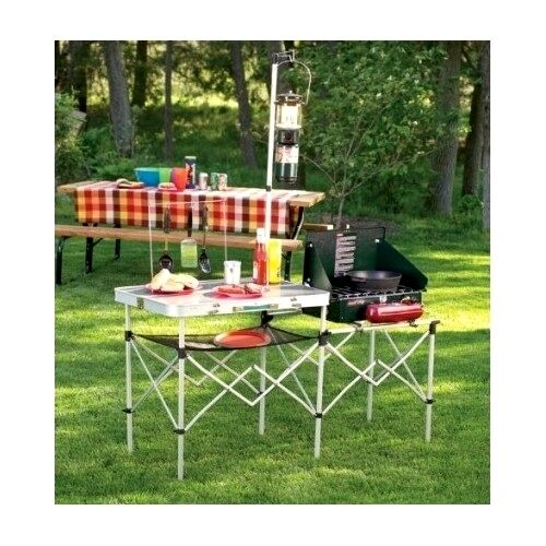 Portable Camping Kitchen Table Lightweight Folding Cooking Equipment