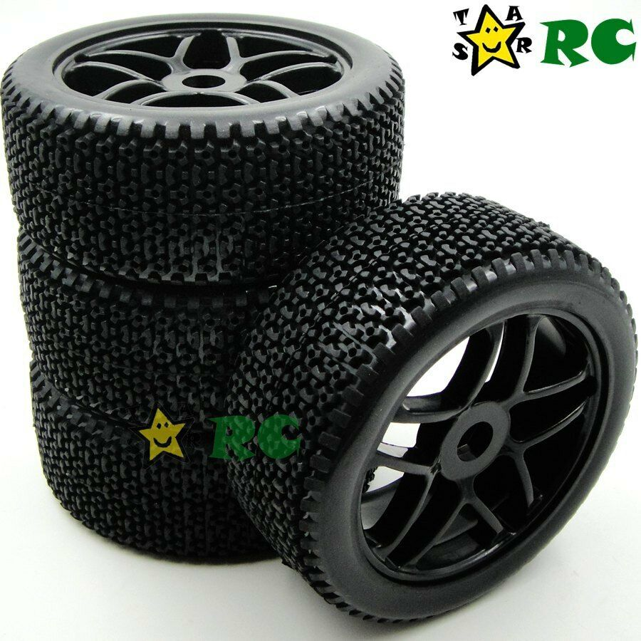 4pcs New 1 8 Rc Off Road Buggy Rubber Tires Tyre W Foam