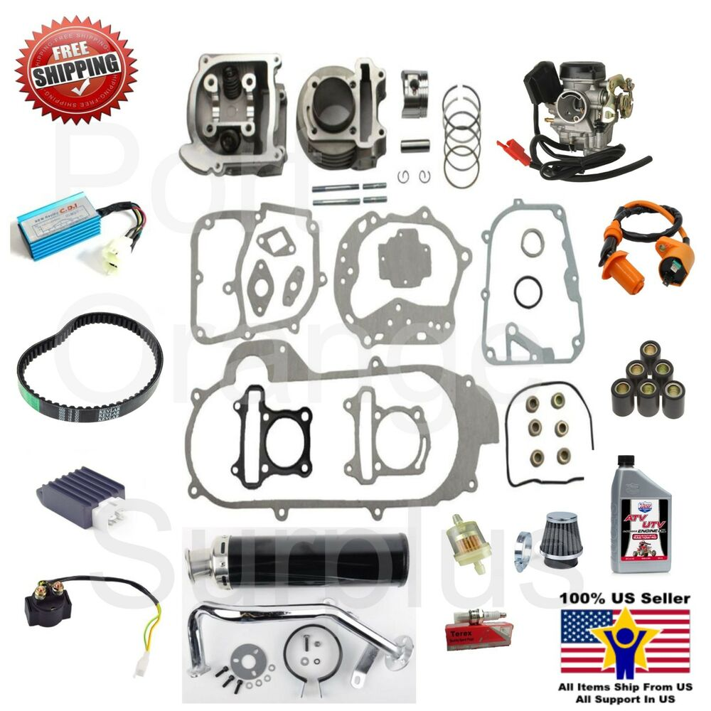 big bore kit 80cc 64mm power racing performance kit scooter moped atv 139qmb ebay. Black Bedroom Furniture Sets. Home Design Ideas