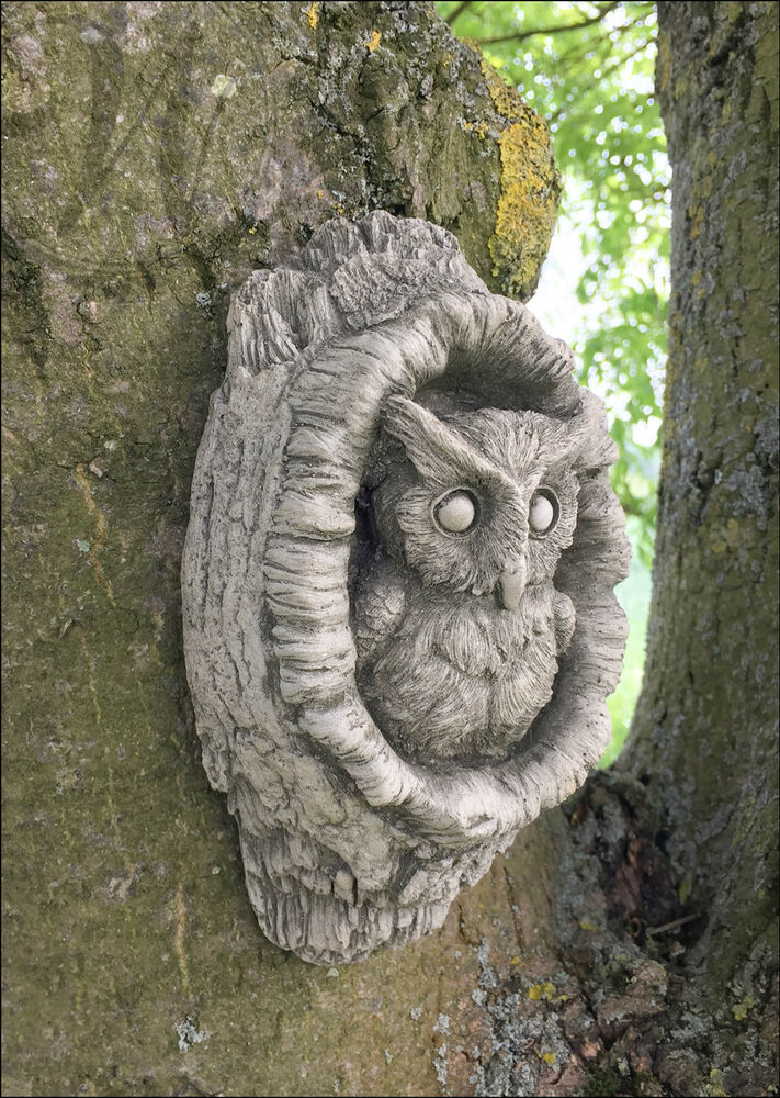Owl garden decoration ornament wall hanging animal gift for Hanging garden ornaments