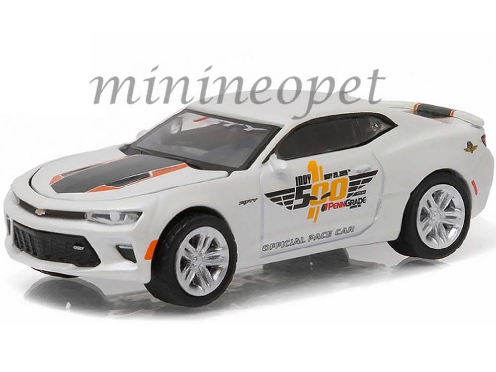 greenlight 13151 100th running indy 500 blister pace car 2016 chevy camaro 1 64 ebay. Black Bedroom Furniture Sets. Home Design Ideas