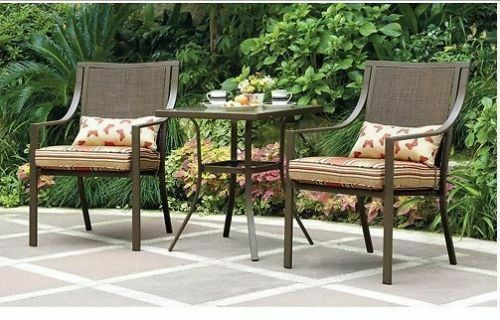 outdoor bistro set 3 piece patio chairs table furniture