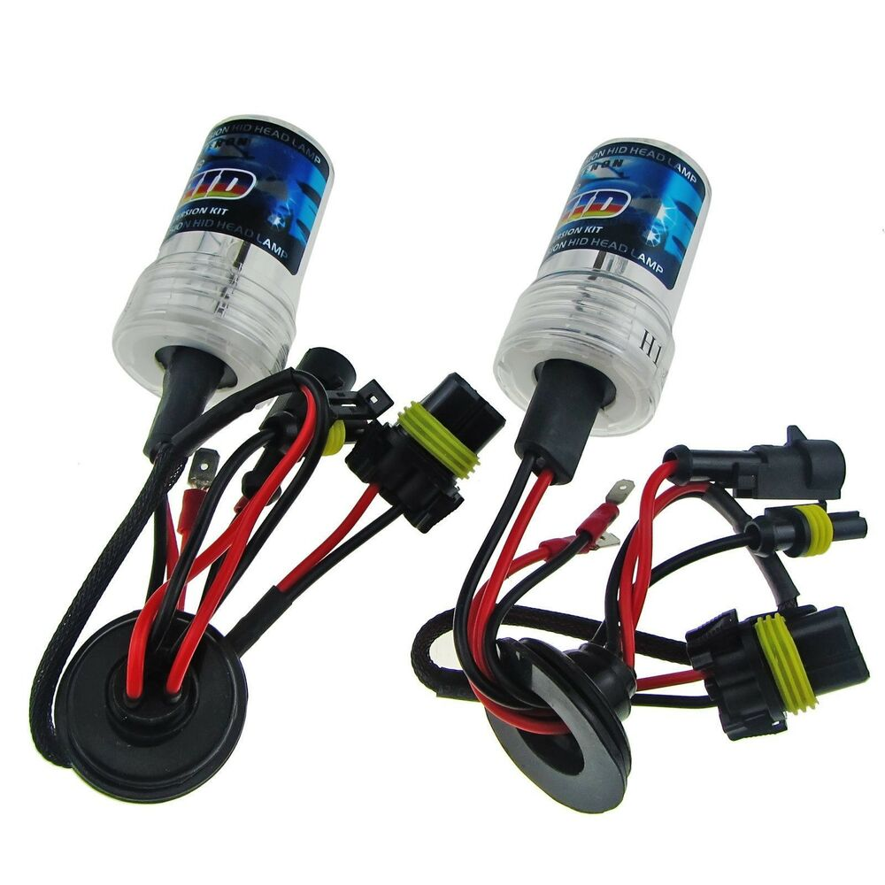 2 xenon hid headlight bulbs replacement h1 h3 h4 h7 h10. Black Bedroom Furniture Sets. Home Design Ideas