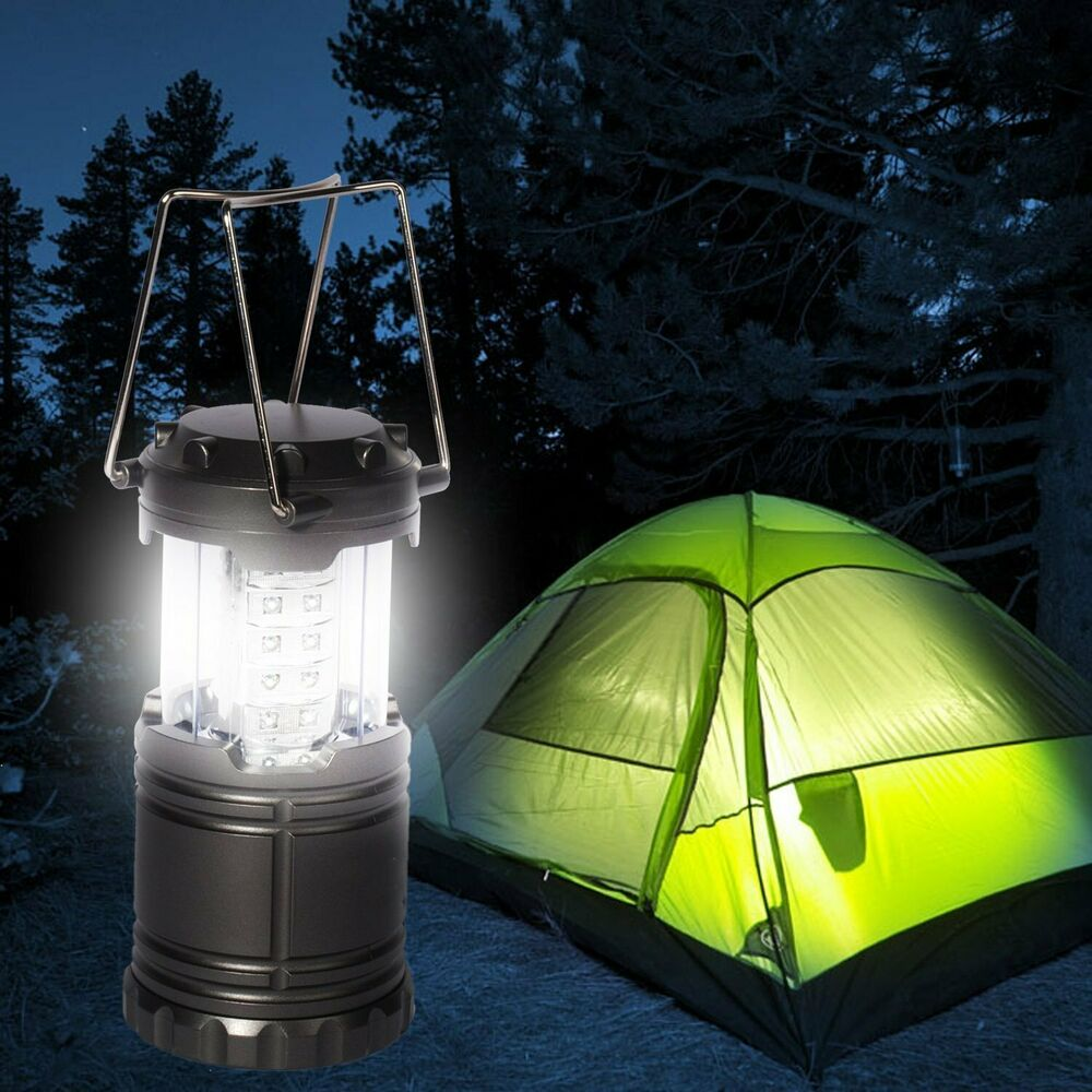 30 led portable camping torch battery operated lantern night light tent lamp ebay. Black Bedroom Furniture Sets. Home Design Ideas