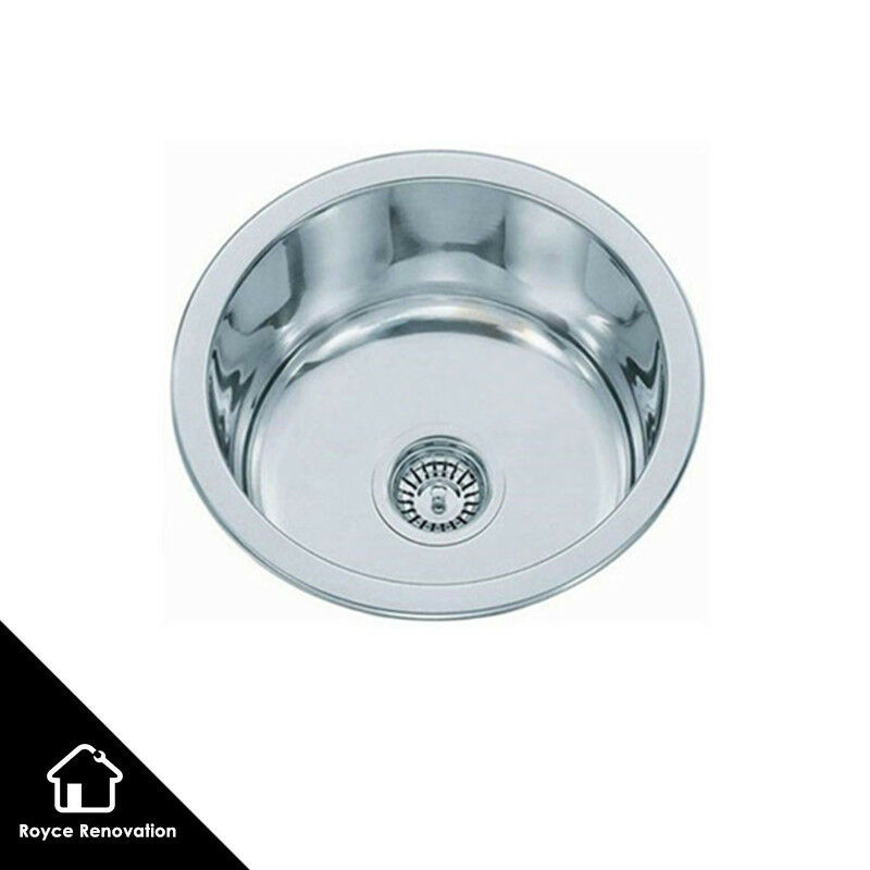 Quality Stainless Steel Round Under Mount / Drop In Kitchen & Laundry ...